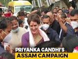 Video : Congress's Priyanka Gandhi Vadra In Assam To Launch Poll Campaign