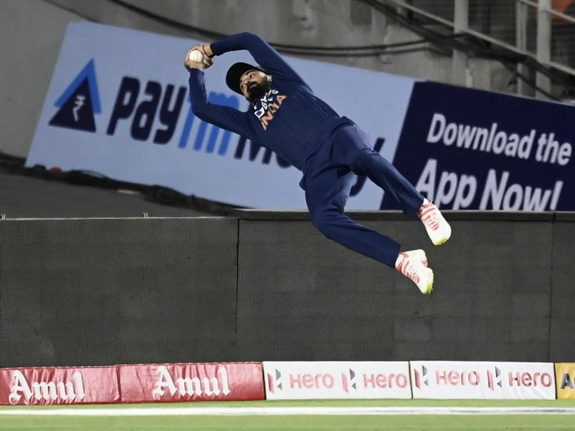 Watch: KL Rahul Wows Fans With Sensational Fielding Effort In India vs England 1st T20I