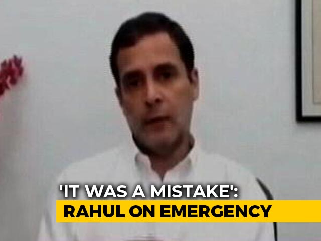 """Video : """"Absolutely, It Was A Mistake"""": Rahul Gandhi On Emergency"""
