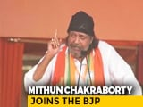 "Video : ""I'm A Pure Cobra"": What Actor Mithun Chakraborty Said After Joining BJP"