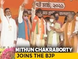 Video : Actor Mithun Chakraborty Joins BJP Ahead Of PM Modi's Rally In Kolkata