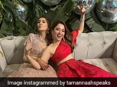 Tamannaah Bhatia In A Fabulous Red <i>Lehenga</i> Is Upping The Bridesmaid Fashion Game