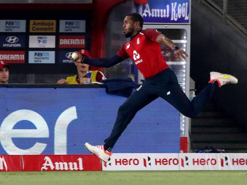 "India vs England 5th T20I: Chris Jordans ""Freak"" Juggling Act To Dismiss Suryakumar Yadav. Watch"