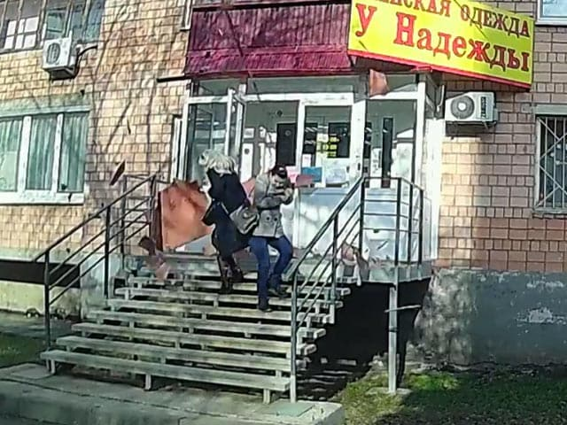 Video : Caught On Camera: Close Call For Two Women As Balcony Collapses