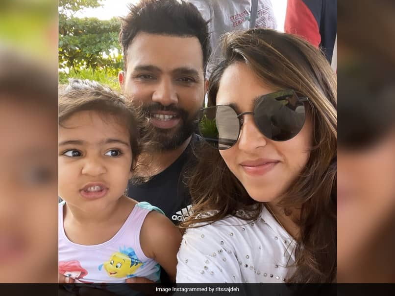 """Rohit Sharmas Wife Ritika Sajdeh Shares Selfie With Her """"Two Babies"""""""