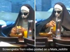 Watch: This Video Of 'The Dining Nun' Has Left Reddit In Splits