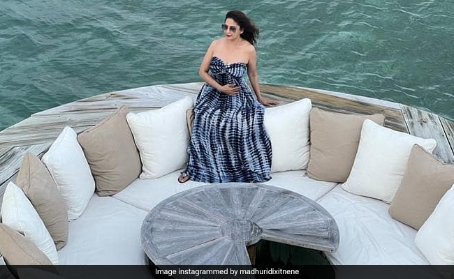 Glimpses Of Madhuri Dixit's 'Messy Hair Don't Care' Mood In Maldives