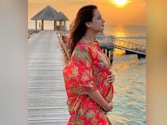 """Blessed"": Dia Mirza Makes Pregnancy Announcement With Baby Bump Pic From Maldives"
