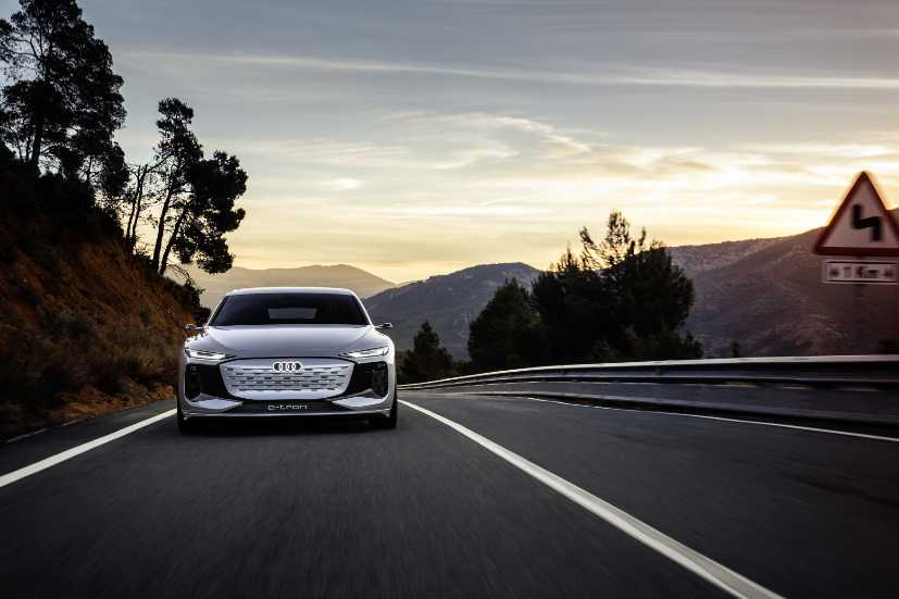 The car represents the future of the iconic A6 which has been there since 1968