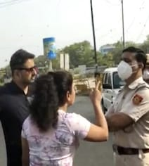 'Will Kiss Husband': Delhi Couple Misbehaves With Cops Over Curfew Check