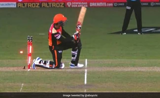 Jonny Bairstow is the 13th player to be dismissed hit-wicket in IPL history