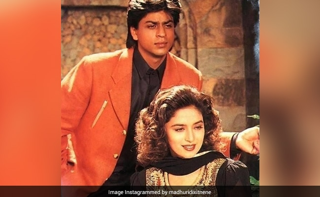 Guess Which 'Memorable' Film These Pics Of Shah Rukh Khan And Madhuri Dixit Are From