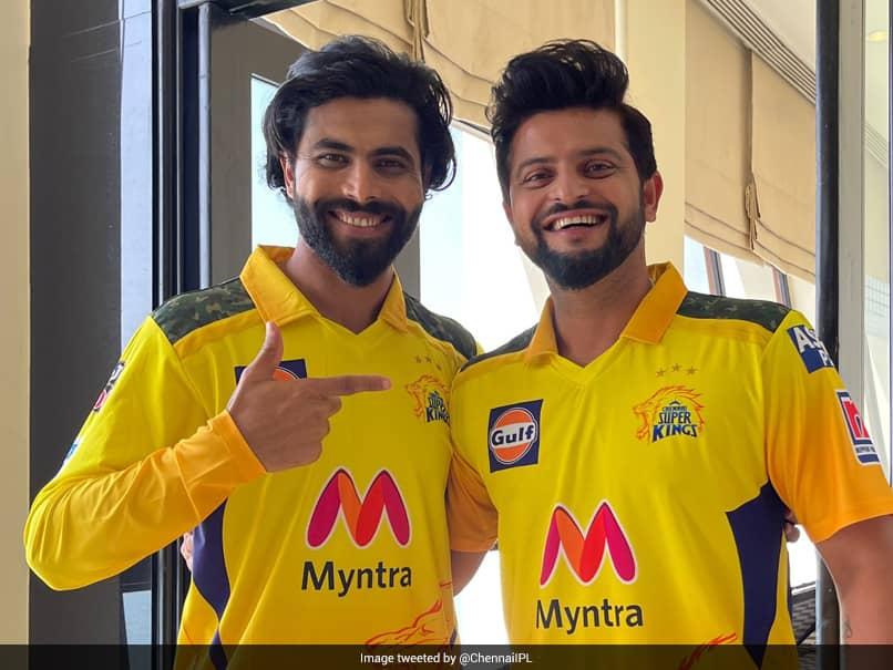 IPL 2021: IPL 2021: Ravindra Jadeja, Suresh Raina Pose In New Chennai Super Kings Jersey. See Pic