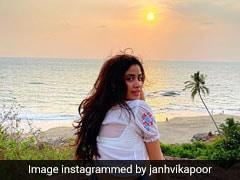 Janhvi Kapoor's Ode To Mother Earth Was Complete With A Classic White Top And Denim Shorts