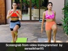 Sara Ali Khan And Janhvi Kapoor Come Together To Set Workout Style Goals With Their Bright Looks