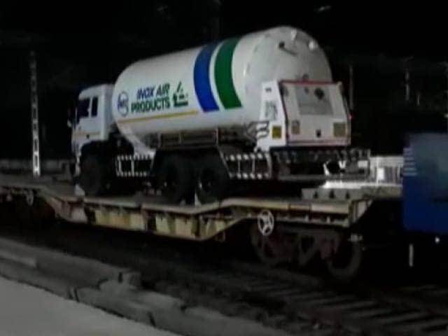 Videos : ऑक्सीजन एक्सप्रेस झारखंड के बोकारो से मध्यप्रदेश के जबलपुर पहुंची