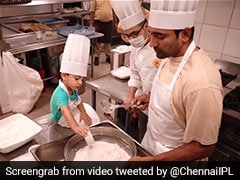 "Watch: ""Little Master Chef"" Uthappa Jr. Helps Father Robin In Baking Cookies"