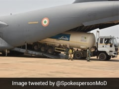 Air Force Airlifts Empty Oxygen Tankers, Containers To Filling Stations Across India
