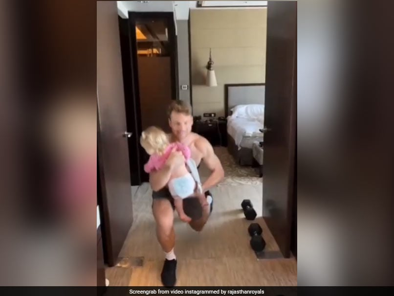 Watch: Rajasthan Royals Jos Buttler Gets A Helping Hand From Adorable Daughter While Exercising