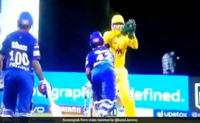 Twitter reacts to MS Dhoni trying to stump Dhawan on beamer from Moeen Ali Watch Video IPL 2021