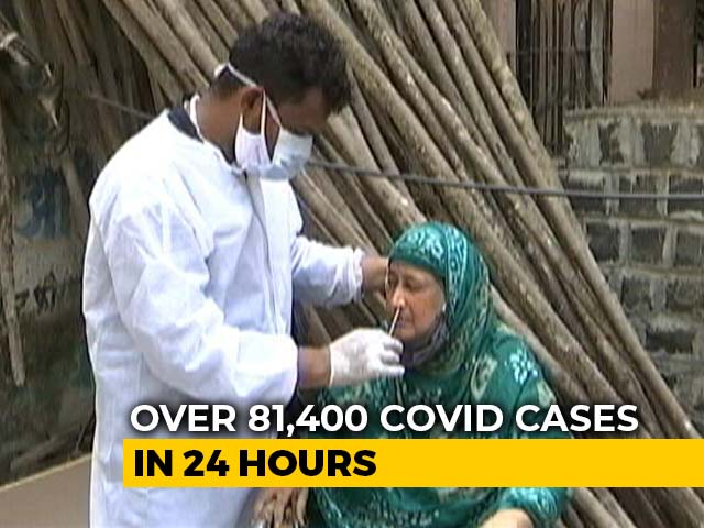 Video : 81,466 Fresh Covid Cases In India, Biggest 1-Day Jump In 6 Months