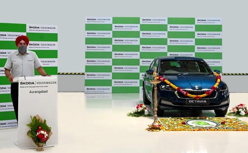 Gurpratap Boparai, Managing Director Skoda Auto Volkswagen India with the new Skoda Octavia