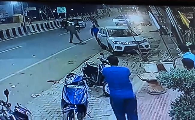 3 UP Cops Seen On Video Firing At BJP Leader's Car Suspended