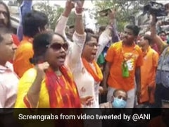 BJP Workers Protest In Bengal After Mithun Chakraborty's Roadshow Cancelled