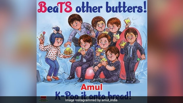 Viral: BTS Army Is Thrilled As Amul Dedicates New Doodle To K-Pop Band