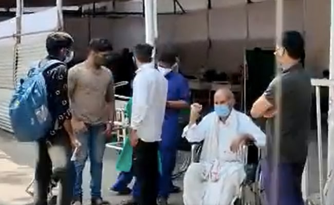 Pune COVID-19: Pune Hospital Runs Out Of Beds, Patients Given Oxygen In Waiting Area