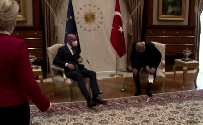 EU Chief Taken Aback After Being Left Without Seat During Visit To Turkey
