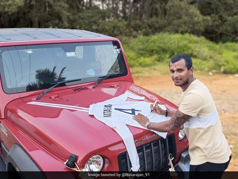 Anand Mahindra Gifts T Natarajan A Vehicle, Gets A Treasure In Return