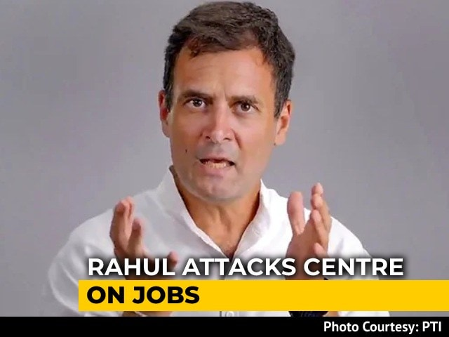 Video : Would Focus On Jobs Rather Than Growth If I Was PM, Says Rahul Gandhi