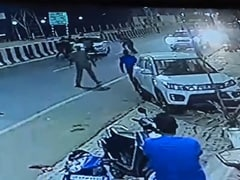 "On CCTV, UP Cops Fire At BJP Leader's Car, He Says ""Conspiracy To Kill"""