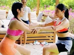 सारा पर जिम बंद होने का नहीं पड़ा कोई असर, दोस्त जान्हवी के साथ जमकर करती दिखीं वर्कआउट- Video
