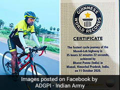 Indian Army Officer Breaks 2 Guinness World Records For Fastest Solo Cycling