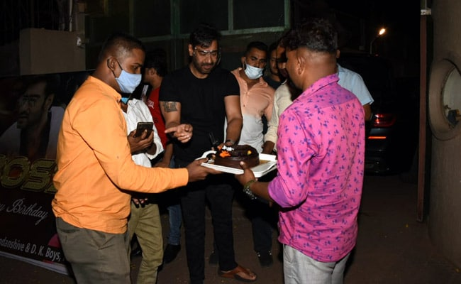 Inside Ajay Devgn's Birthday Celebrations With Fans. See Pics