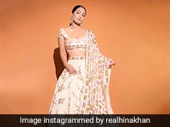 Pretty In A Pink Lehenga, Hina Khan Is A Sight To Behold