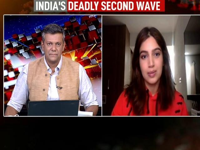 """Video : """"Mask Up, Get Vaccinated"""": Actor Bhumi Pednekar On Covid Fight"""