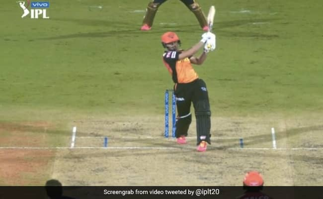 Abdul Samad Smashed 2 six in one over to Pat Cummins Watch video SRH vs KKR IPL 2021