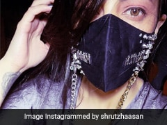 "Just Like Shruti Haasan, Make ""Mask Up"" Fab With Some Bling"