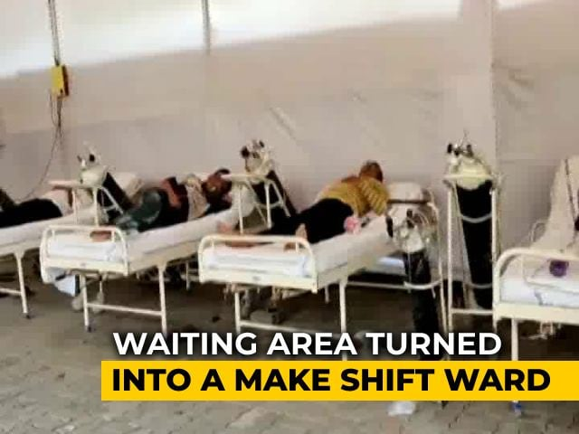 Video : Pune Hospital Runs Out Of Beds, Patients Given Oxygen In Waiting Area