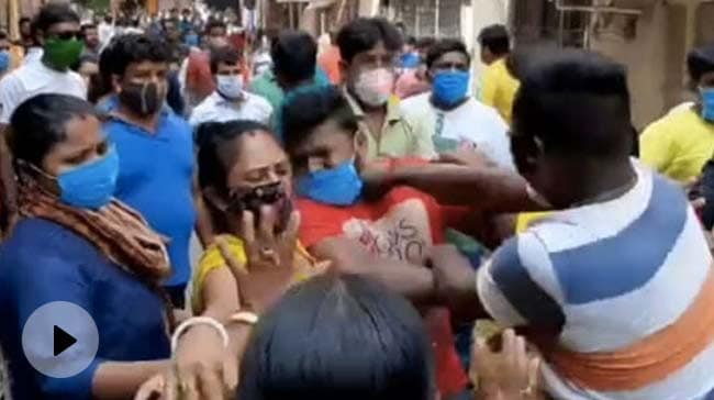 Video   BJP, Trinamool Clash Near Bengal Polling Booth Amid 5th Phase Voting