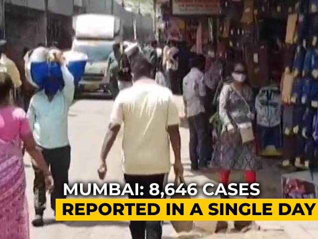 Video : Mumbai Reports Highest One-Day Covid Cases Spike