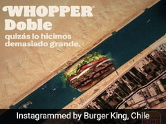 Burger King Using Suez Canal Crisis To Promote Burger Riles Up Internet