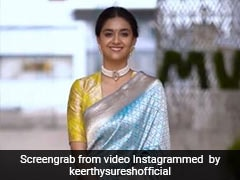 Keerthy Suresh Looks Elegant As Ever In A Colourful Traditional <i>Saree</i>