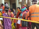 Video: At Hyderabad Centre, Sanitation Workers Rush For Vaccines, Told No Go