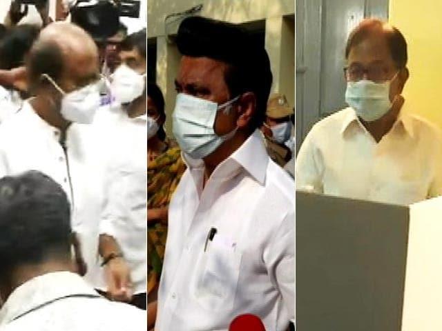 Video : Rajinikanth, Kamal Haasan, P Chidambaram, MK Stalin Vote Early In Today's Polls