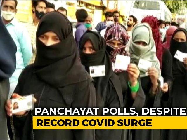 Video : UP Rural Polls Begin Amid Covid Surge, 3 Crore Eligible To Vote On Day-1
