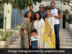 In A Graceful Floral Salwar Suit, Sania Mirza Celebrates Iftar With Family